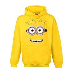 Einfach Unverbesserlich - Google Face Hoodie Minion Pullover mit Kapuze gelb - XL