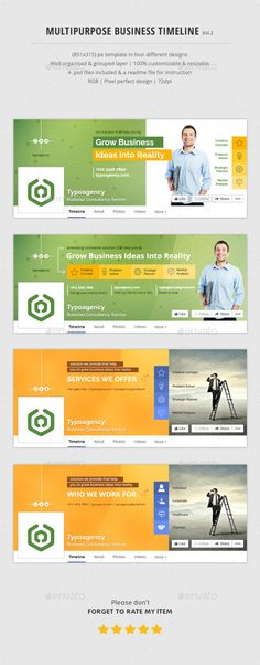 Business Facebook Timeline Timeline, Facebook and Design - business timeline template