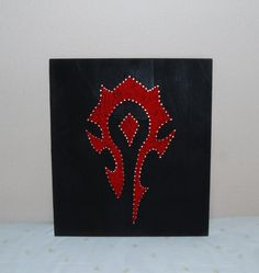 Horde Symbol Picture - World of Warcraft - String Art (Wall-Hanging)
