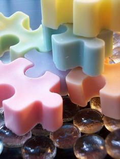 Rainbow Pastel Puzzle Soap
