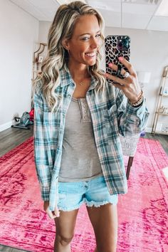 Pink Lily, Mocha, Outfit Of The Day, Autumn Fashion, Plaid, My Style, Blouse, How To Wear, Weather