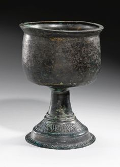BYZANTINE, 6TH CENTURY AND LATER  CHALICE WITH KUFIC INSCRIPTIONS
