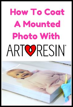 Have a favorite photo, but don't want to frame it? Coating it with crystal clear #ArtResin is an amazing alternative that will keep it looking beautiful forever. Detailed and instructions and a step by step video on our blog! #resin #howtomountaphoto #howtocoataphotowithresin