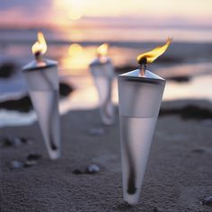 Cone Torch - Danish Design Outdoor - Danish Lifestyle - Welcoming Guests with a Row of Flaming Torches