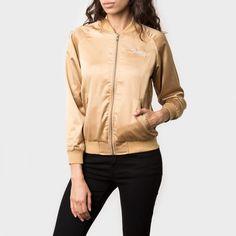 Stussy California Satin Jacket Gold #bomber #satin #california #gold #streetwear #stussy