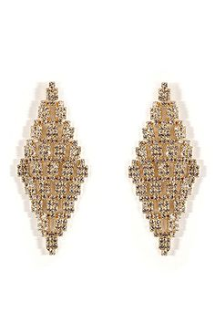 R.J.GRAZIANO Gold-Toned Crystal Earrings