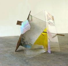 Sarah Braman : San Juan, 2006, Found wood, plexiglass and acrylic paint, 56 x 49 x 52 in
