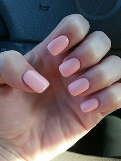 New nails! Short acrylic with shellac.