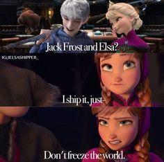 Yay, Anna ships Jelsa!!! Cute Jokes, Funny Disney Jokes, Disney Memes, Disney Quotes, Funny Memes, Hilarious, Disney Au, Disney Frozen Elsa, Disney Fan Art