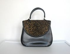 SOLD / Vintage 1980s New Wave / Tianni Black Purse / by VelouriaVintage, $20.00