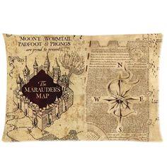 HARRY POTTER Marauder's Map Pillowcase
