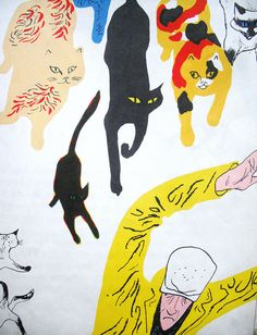 Cats in Art and Illustration: The Cat Thief by Joan Cass I Love Cats, Crazy Cats, Cat Drawing, Christen, Children's Book Illustration, Cat Art, Oeuvre D'art, Illustrations Posters, Illustrators