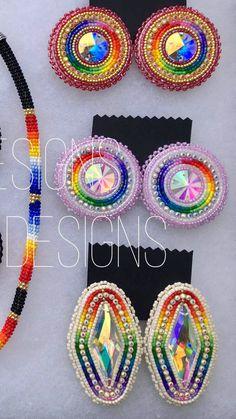 Beaded Earrings Native, Beaded Earrings Patterns, Native Beadwork, Native American Beadwork, Seed Bead Earrings, Beading Patterns, Beaded Moccasins, Beadwork Designs, Bead Sewing