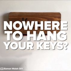 This Key Rack Is Made From Old Seat Belts