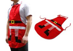 With these New Red Christmas Apron you will make happy youe mother, wife, chef... its an very usefull Christmas gift
