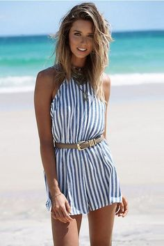 f0fa1b7e14 Sailor Inspiration Fashion Straped Striped Romper. SUNAAI.COM. Striped  PlaysuitShort PlaysuitShort JumpsuitBeach PlaysuitSummer ...