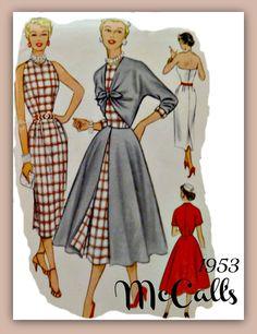 Vintage 50s McCalls 9461 Pattern Misses by VintageNeedleFinds, $45.00