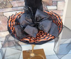 Witches Hat with orange/black ruffle
