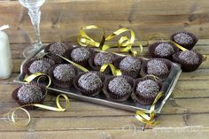 Trufas de chocolate al ron , sin gluten