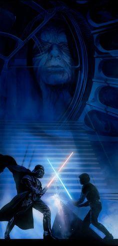 Always Star Wars, Gorgeous art by William Silvers Star Wars Darth, Darth Vader, Saga, Star Wars Episode 6, Knight Games, Star Wars Concept Art, Star Wars Tattoo, Star Wars Wallpaper, Art Gallery
