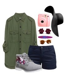 """""""Spring Flower Power"""" by annad121 ❤ liked on Polyvore featuring Zara, Barbour, Fujifilm, Maybelline and Timberland"""