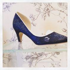 Geek theme handpainted wedding shoes starwars by CherryBombBtq