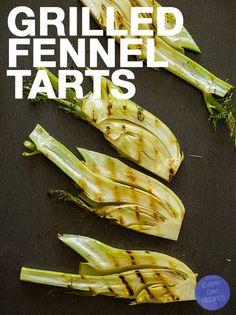 grilled fennel tarts