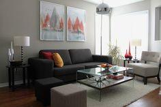 dark grey couch - Google Search