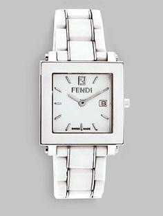 Fendi Ceramic Square Watch
