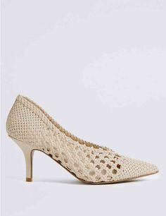 c63c3b84d298 Stiletto Heel Weave Court Shoes