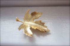 Royal Leaf Hair Clip Gold Leaf Hair Clip Goddess by avigailadam1, $25.00