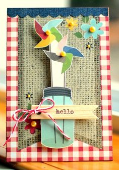 Hello   Scraptastic Club card by DT @Michelle Unruh