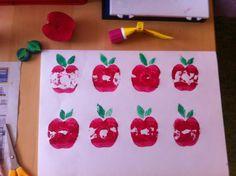 1000 images about apfel on pinterest kindergarten for Herbstbasteln in der kita