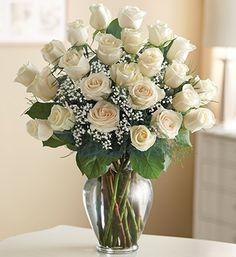 In Crib Room / Ultimate Elegance™ Premium Long Stem White Roses - White roses symbolize eternal love!