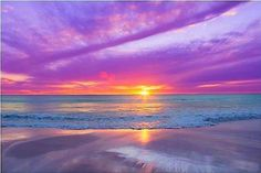 Sunset beach, colors from the Light ~