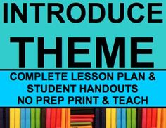 THEME LESSON PLAN: NO PREP Print & Go: THEME Lesson Plan & Student Materials. Everything you need to teach theme vs. moral in a fun & engaging way!! Enjoy no prep OR editable lesson plan & student handouts (.DOC & .PDF formats) #themelesson #themelessons