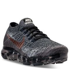 Nike Men's Air VaporMax Flyknit Running Sneakers from Finish Line - Black 15