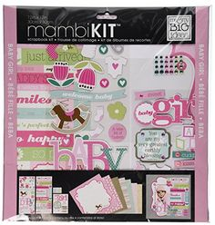 "Me and My Big #Ideas presents MAMBIKITS, all inclusive kits for scrapbooking and paper crafting. This kit is ""Baby Girl"" themed, #totally coordinated and includes..."