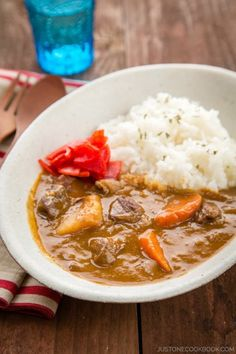 Beef Curry | Easy Japanese Recipes at JustOneCookbook.com - the most elaborate curry recipe I've ever seen (since I've pretty much only seen the back of the box)... must try!