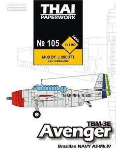 Grumman TBM-3E Avenger Torpedo Bomber Free Aircraft Paper Model Download…