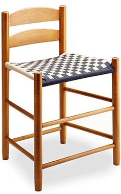 This chair neatly exemplifies the Shaker's sense of practicality - it was designed with a low two-slat back so that it could be tucked under the…