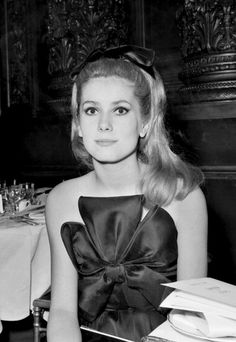 District of Chic x BHLDN holiday look inspo: Catherine Deneuve, 1960's.  The most perfect thing I've ever seen
