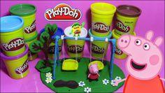 Play Doh Peppa Pig Playground Peppa Pig en Área  de juegos