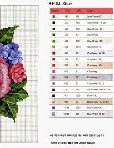 Ricami, lavori e centinaia di schemi a punto croce di tutti i tipi, gratis: deliziosi quadretti floreali da ricamare a punto croce