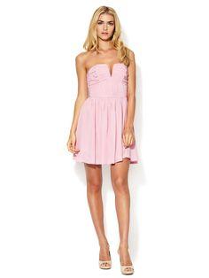 Silk Ruched Bodice Strapless Dress by Zimmermann on Gilt.com