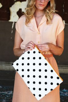 Want It  Mini Polka Dot Clutch Purse