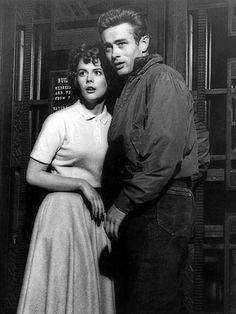 """Natalie Wood and James Dean (1955) """"Rebel Without a Cause"""""""