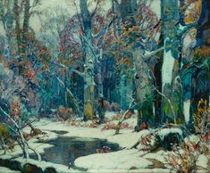 John Fabian Carlson (1874–1945). Forest Pool, Oil on canvas, 48⅞ x 58¾ inches.