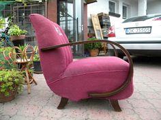 STARY FOTEL ART DECO HALABALA /K29/ [432/14] (Antyki i Sztuka Meble Fotele)