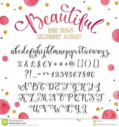 Hand drawn calligraphy font